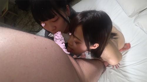 【オボワz☆ 投稿作品】♀43専門学生み◯ちゃん18歳・♀206女子大生め◯ちゃん18歳1回目(3P) 同時種付け生中出しセックスで異母双生児(?)を孕ませる!(笑)