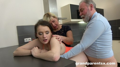 GrandParentsX 19 01 24 Teen Couple Want Some Experiences Cold Cock And Old Pussy XXX 1080p MP4-KTR