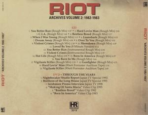 Riot - Archives Volume 2 [1982-1983] (2019) [DVD5]