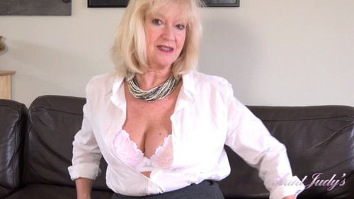 AuntJudys 19 06 17 Auntie Louise Wants You To Jerk Off For Her XXX 1080p MP4-KTR
